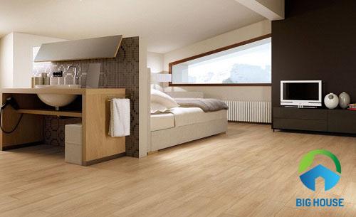 gạch giả gỗ lát nền phòng ngủ 3