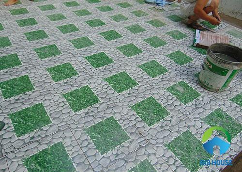gạch lát sân vườn mikado 3