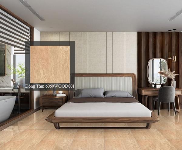 gạch vân gỗ đồng tâm lát phòng ngủ