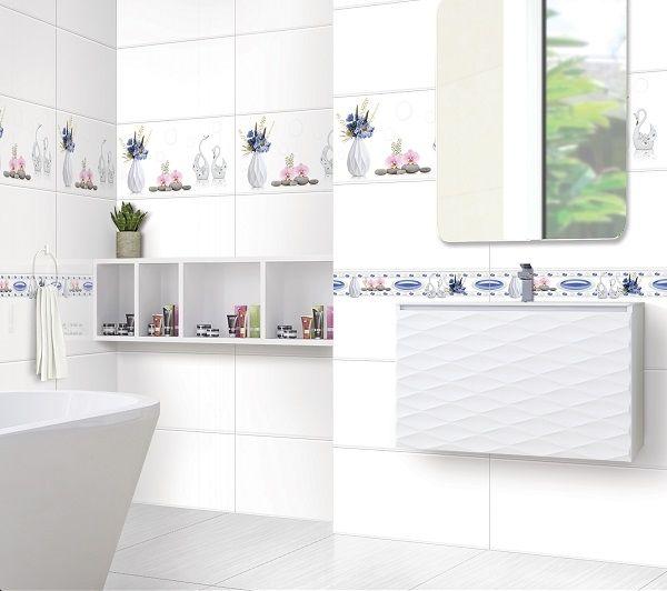 Mẫu gạch ốp tường Ý Mỹ M36000 gam màu trắng thanh lịch và tinh tế