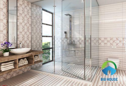 Gạch ốp tường nhà tắm mikado – Giải pháp chống bám bẩn, rêu mốc tuyệt vời