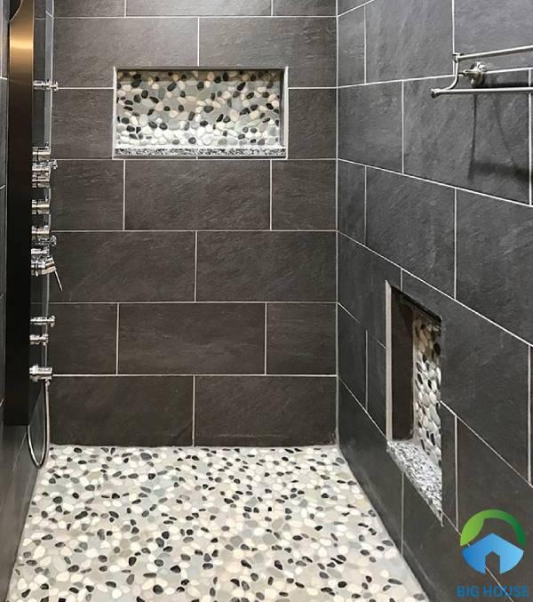 Gạch sỏi đá Mikado ứng dụng cho không gian nhà tắm