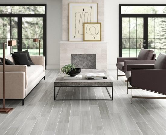 mẫu gạch giả gỗ lát nền phòng khách 12