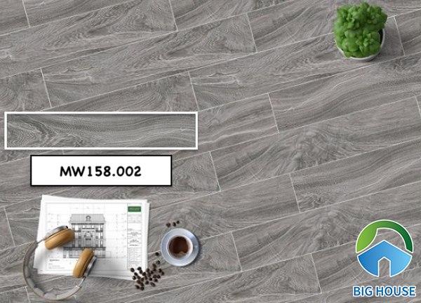Mẫu gạch giả gỗ Mikado MW158.002gam màu xám đơn giản, hiện đại