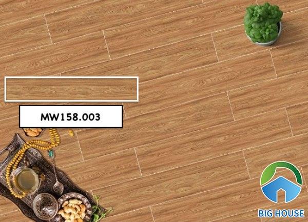 Mẫu gạch giả gỗ Mikado MW158.003 màu vàng nâu ấm cúng