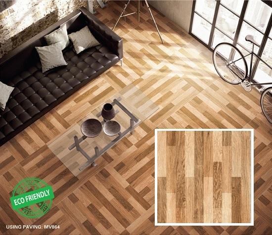 TOP mẫu gạch giả gỗ lát nền phòng khách Mikado ấn tượng nhất 2020