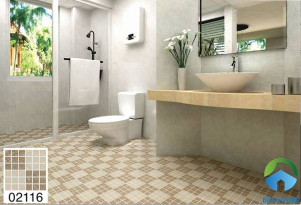 Gạch lát nền nhà tắm chống trơn Prime hoạ tiết 02116