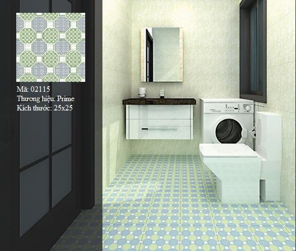 mẫu gạch phòng tắm prime 25x25