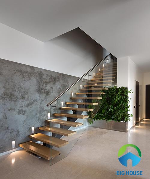 gạch ốp tường cầu thang 10