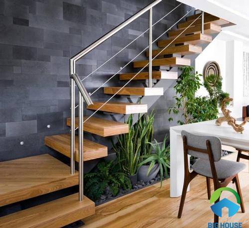 gạch ốp tường cầu thang 9