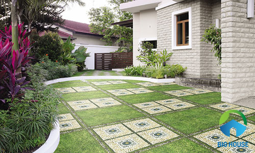 cách lát gạch sân vườn 4