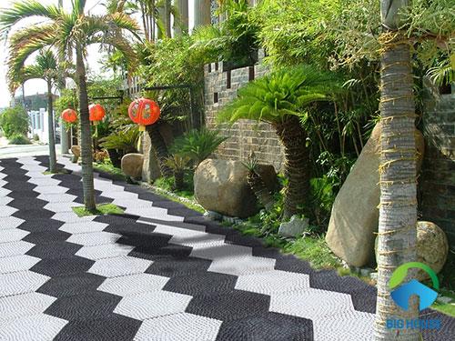 cách lát gạch sân vườn 5
