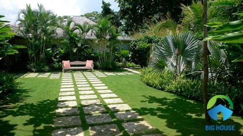 cách lát gạch sân vườn 6