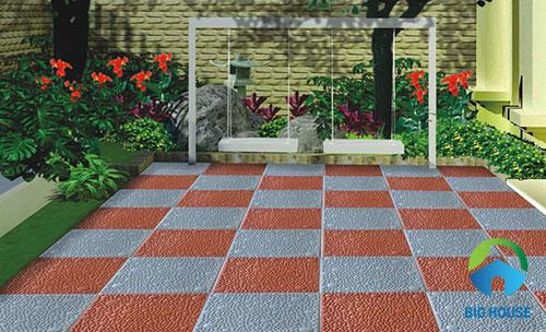cách lát gạch sân vườn
