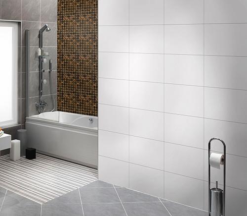 Mẫu gạch ốp tường màu trắng Prime 2242 có kích thước 25x40