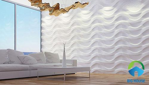 gạch ốp tường màu trắng 2