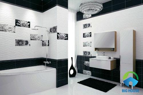 gạch ốp tường màu trắng 1