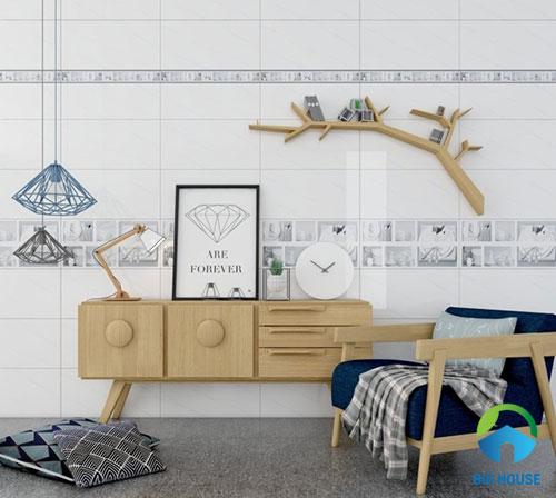 gạch ốp tường màu trắng 9