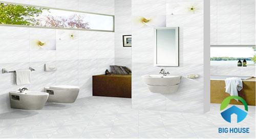 gạch ốp tường màu trắng 17
