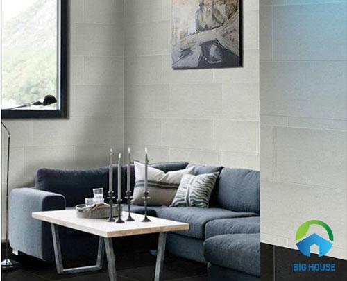 phối màu gạch ốp tường phòng khách 1