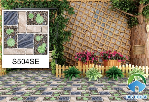 Không gian sân vườn nhà bạn sẽ trở nên ấn tượng hơn với mẫu gạch S504SE đến từ Ý Mỹ. Chất liệu cao cấp đảm bảo chống trơn trượt và chống bám dính hiệu quả cho người dùng.