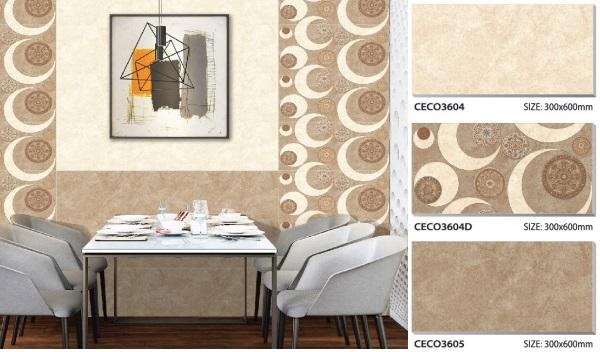 gạch ốp tường phòng ăn