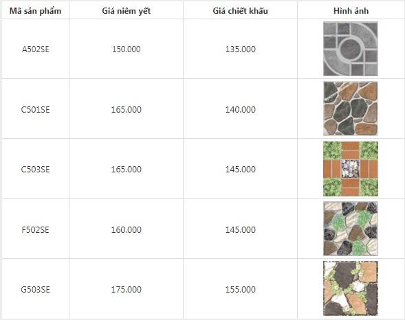 Giá gạch lát sân vườn Ý Mỹ