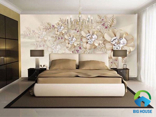 gạch ốp tường phòng ngủ 3D 4