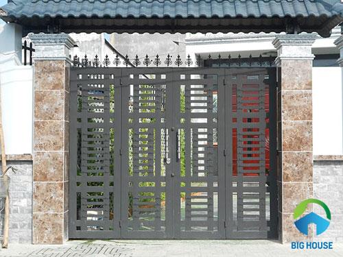 gạch ốp trụ cổng nhà 5
