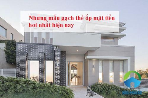 Gạch thẻ ốp mặt tiền nhà: Tổng hợp các mẫu gạch đẹp kèm báo giá chi tiết