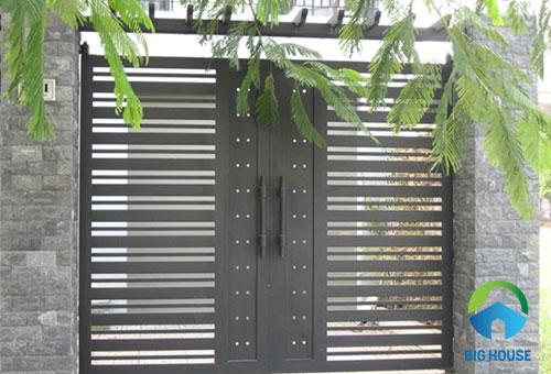 gạch thẻ ốp trụ cổng 3