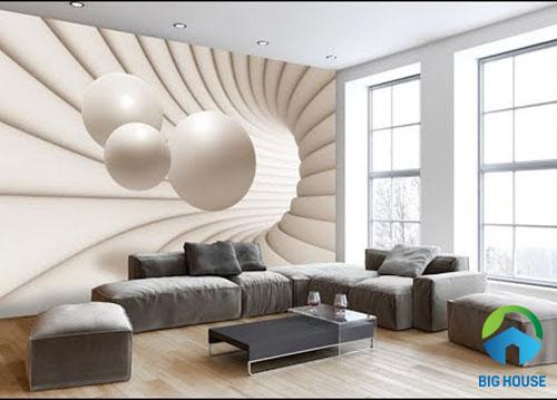 gạch 3d ốp tường phòng khách 20