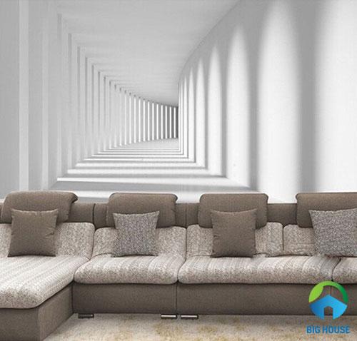 gạch 3d ốp tường phòng khách 26