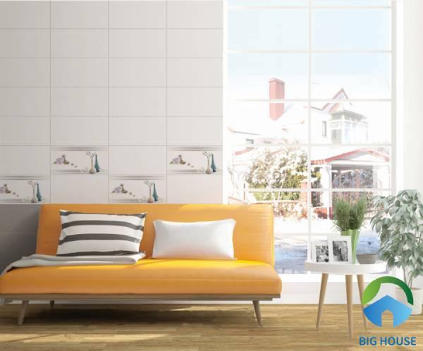 Gạch điểm trang trí cho không gian phòng khách