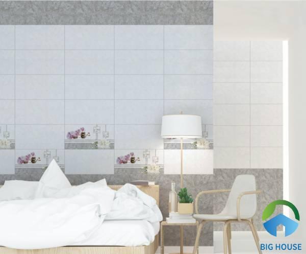 Sử dụng gạch điểm ốp tường phòng ngủ