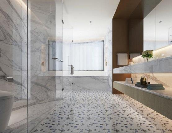gạch sỏi lát nền nhà tắm 13
