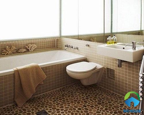 gạch sỏi lát nền nhà tắm