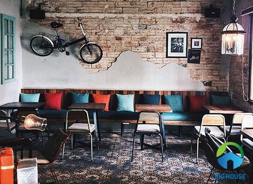 gạch lát nền quán cà phê