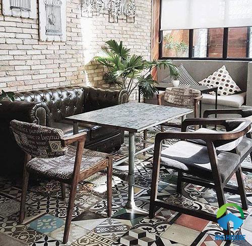gạch lát nền cho quán cà phê