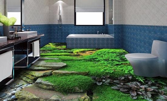 Chọn gạch 3D phòng tắm cần đảm bảo khả năng chống trơn trượt tốt