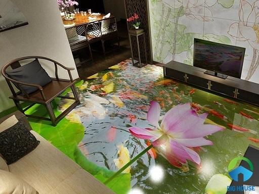 Gạch lát nền 3D phòng khách: TOP mẫu gạch đẹp nhất 2021 và giá bán chi tiết