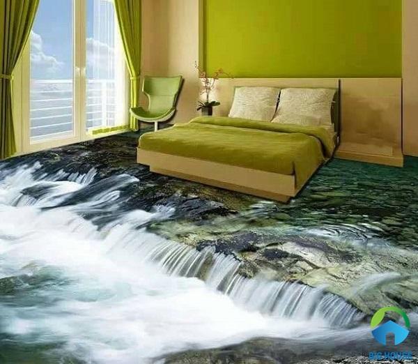 gạch lát nền 3d phòng ngủ 3