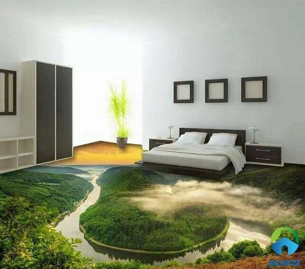 gạch lát nền 3d phòng ngủ 8