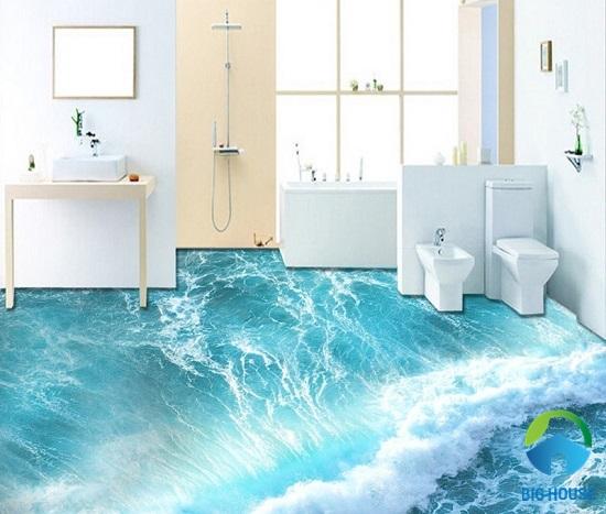 mẫu gạch lát nền 3d giá rẻ hình bọt sóng