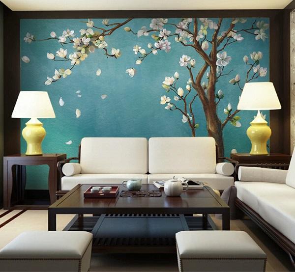Mẫu gạch ốp họa tiết hoa lê trắng cho những gia chủ yêu thích vẻ đẹp nhẹ nhàng