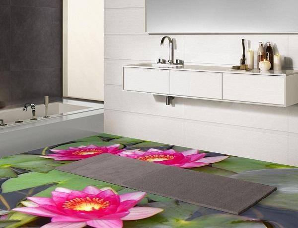 mẫu gạch 3d lát nhà tắm đẹp ấn tượng