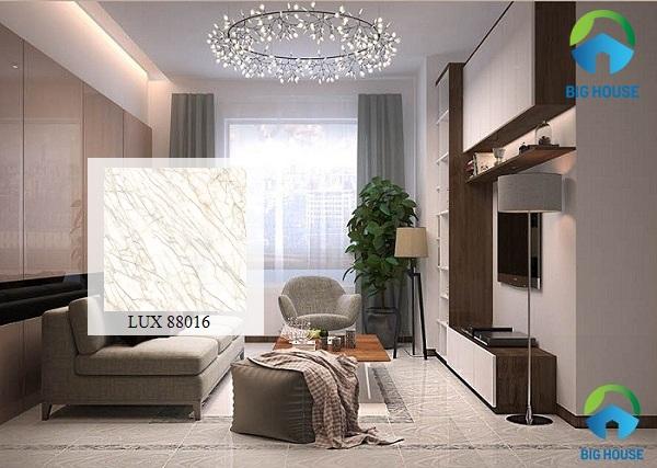 gạch bóng kiếng royal LUX 88016 mang vẻ đẹp sang trọng, hiện đại