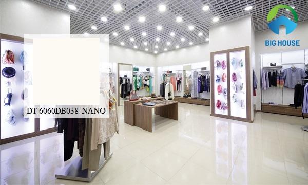 Mẫu gạch lát nền Đồng Tâm 6060DB038 - NANO thiết kế sang trọng, hiện đại