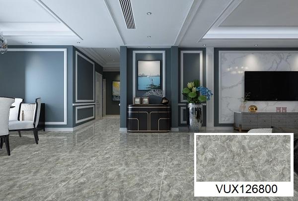 mẫu gạch lát nền khổ lớn VUX126800 gam màu xám ghi hiện đại