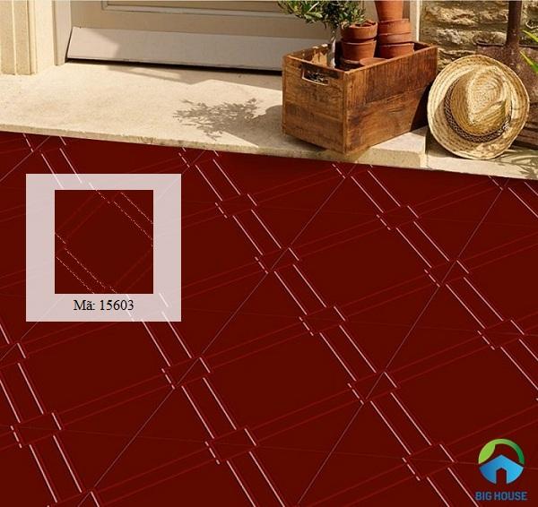 Gạch đỏ lát sân Prime 15603 tông màu đỏ thẫm